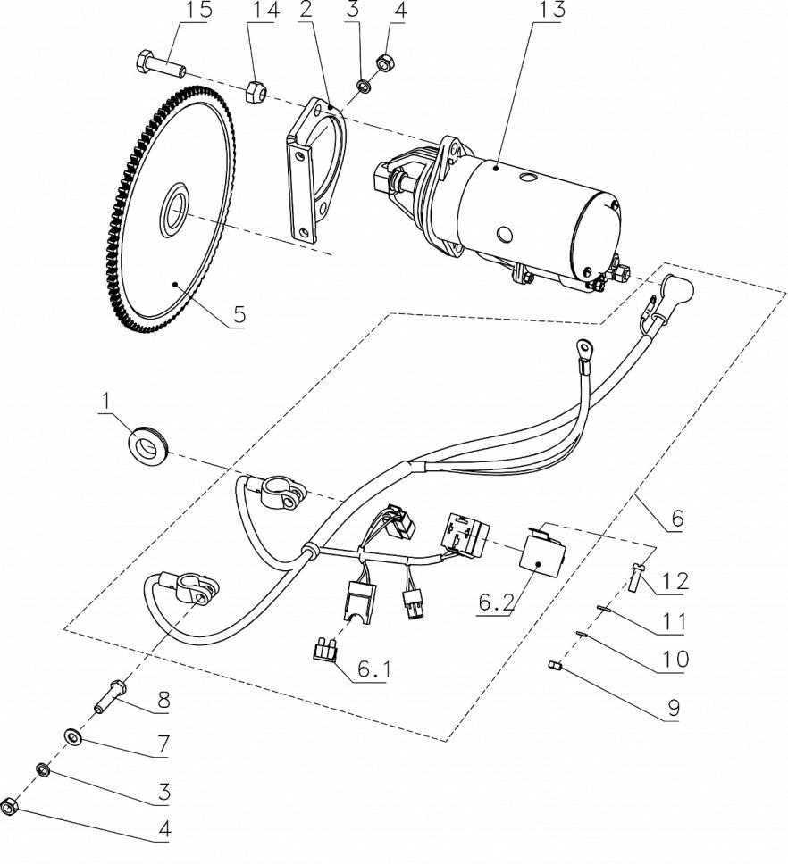 Электрооборудование: система электрозапуска (стартер СТ362)