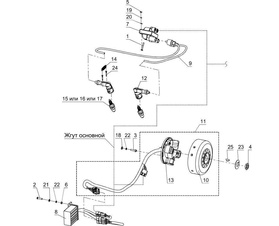 Электрооборудование: система зажигания