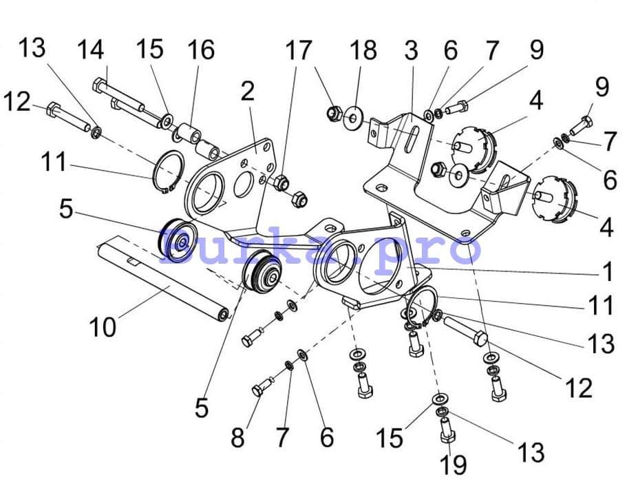 Основание двигателя Атака 551, Варяг (500,550, V), Патруль SWT