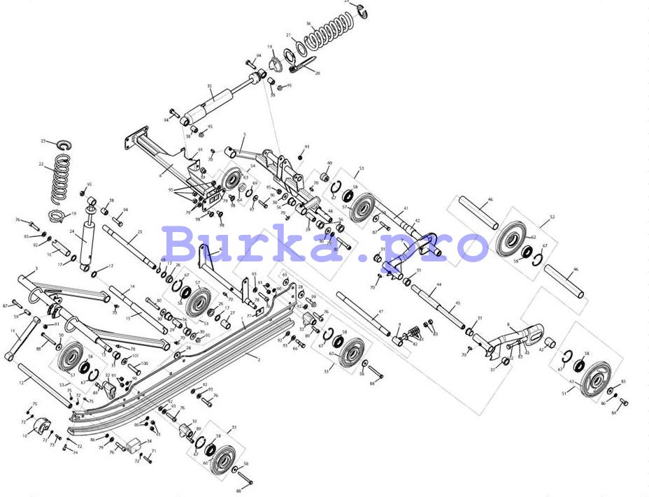 Подвеска ходовой части Варяг V L30201500